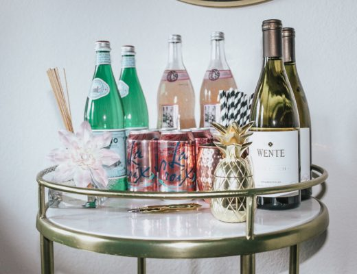 jenny tran website how to decorate bar cart