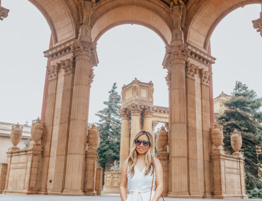 jenny tran fashion blogger lifestyle blogger white jumpsuit