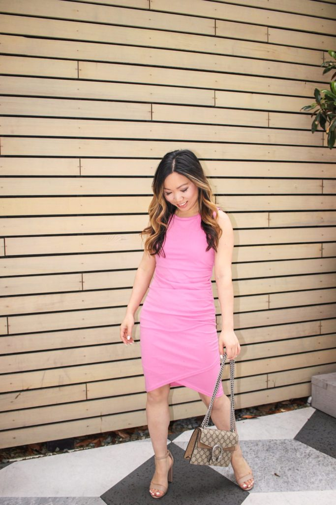 Cute Valentine's Day Outfit - Pink Dress | Jenny Tran ...