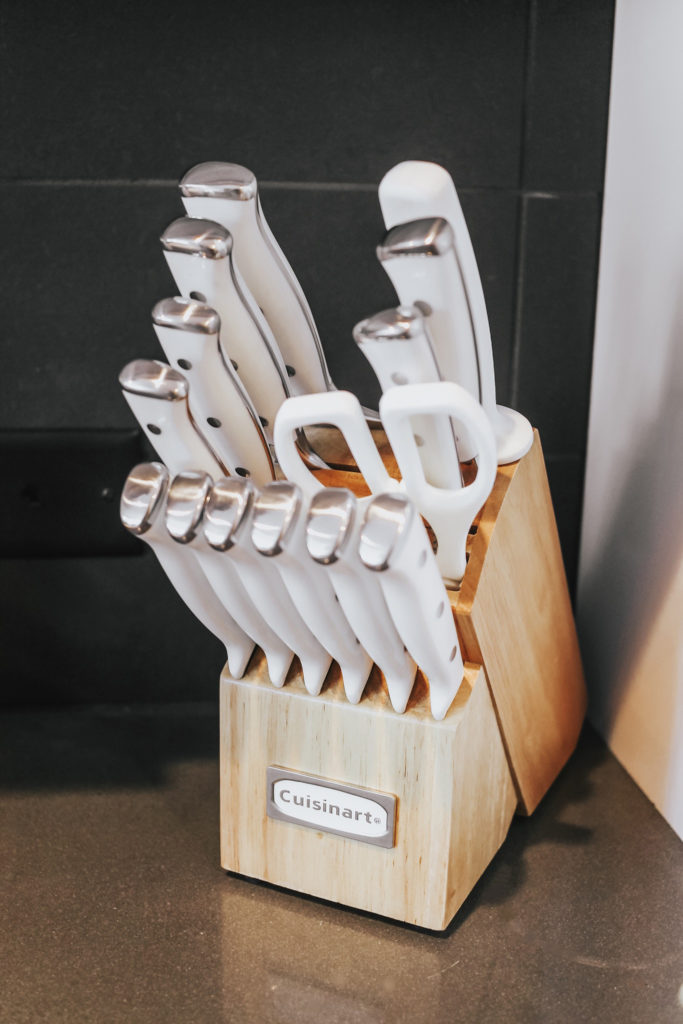 jenny tran wayfair cuisinart kitchen white knife set